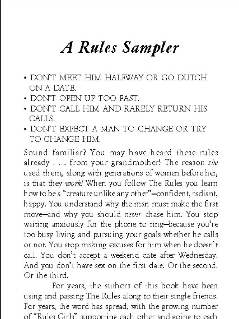 Not your mothers rules to dating book