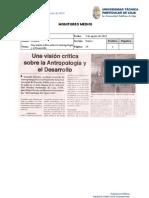 Informe de prensa semana del 2 al 9 de agosto del 2013