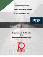 Programa-Coloquio Internacional-El Impacto Social de la filosofía