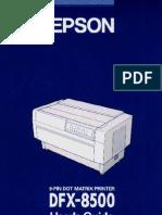 Epson DFX 8500 User Manual