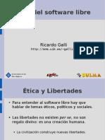 Ética del software libre Ricardo Galli