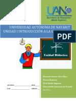 Unidad didáctica I Introducción a la Geometría Analítica