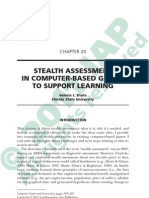 Stealth Assessment in Computer-Based Games to Support Learning