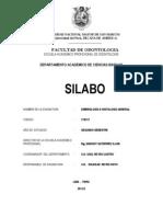 Silabo Embriologia e Histologia General 2012-II