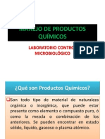 MANEJO DE PRODUCTOS QUÍMICOS