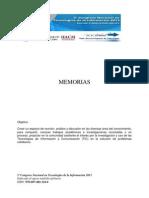 Memorias Tic 2013
