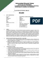 ID 0806 Planeamiento y Control de Operaciones