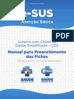 Manual_E-SUS- CDS - Sistema de Coleta de Dados Simplificada - Manual Para Preenchimento Das Fichas