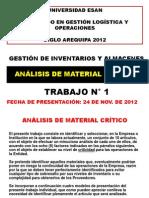 TRABAJO 1 - Analisis de Material Critico