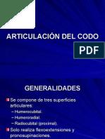 Articulacion Del Codo Exposicion -> Futura  Médica