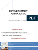 Exitencialismo y Personalismo