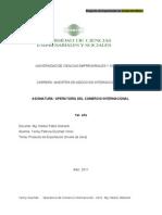 Proyecto de Exportación de Aceite de Oliva a Colombia