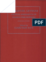 Claire Elise Katz and Lara Trout Eds. Emmanuel Levinas Critical Assessments Vol. II Vol. II Levinas and the History of Philosophy 2005