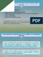 Caracteristicas Linguisticas de La Diversidad Auditiva
