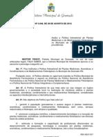 Lei 3048.12 - Política plantas medicinais e fitoterápicos GRAMADO