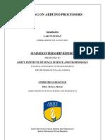 Arduino processors - ARUNVINTHAN -AMITY UNIVERSITY