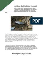 Rio Otapa Swordtails