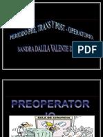 CUDADOS Pre Trans y Postoperatorio
