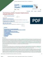 Data Warehouse, Modelo, Conceptos e Implementación orientada a SQL Server - Monografias