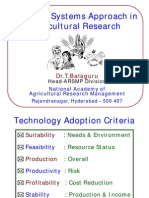 Farming Systems Approach in Agricultural Research - FOCARS 85 T.balaguru