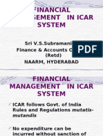 Financial Management in Icar System