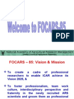 FOCARS85 Overview