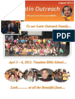 August 2013 Newsletter PDF / Reaching Children on the Mission Field / VBS