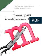 Manual Para Investigaciones Literarias