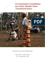 African Union Commission Consultation on Transitional Justice