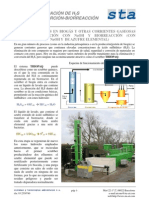 Desulfuración de biogás