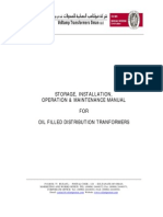 Voltamp Transformers Storage Instalaltion Operation & Maintenance Manual