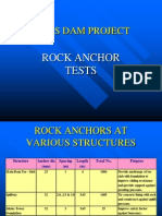 Rock Anchor Tests in conglomerate