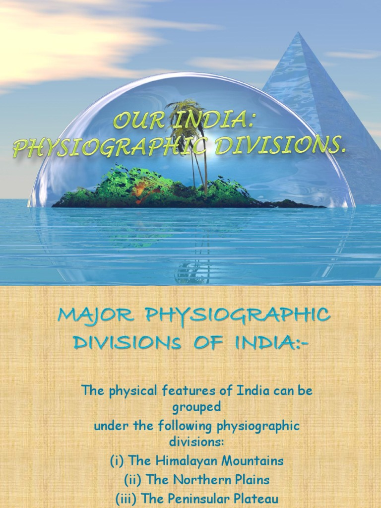 the physical divisions of india