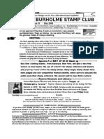 Burholm Stamp Club May-09