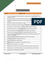 RK Embedded Solutions B.Tech VLSI Project List
