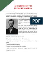 Abraham Lincoln y El Sindrome de Marfan