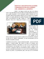 Aspectos Positivos y Negativos de Los Tres Periodos Presidenciales de Alberto Fujimori