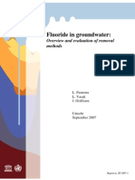 Fluoride in Groundwater Overview and Evaluation of Removal Methods
