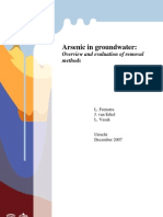 Arsenic in Grounwater Overview and Evaluation of Removal Methods