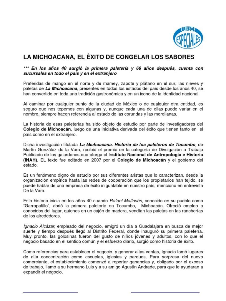 El Exito De La Michocana Historia