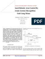 Arm 7 Based Robotic Arm Control By