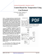 Motor Speed Control Based On Temperature Using Can Protocol
