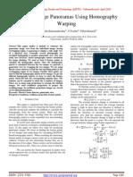 Creating Image Panoramas Using Homography Warping