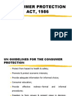 Consumer Protection Act, 1986 New