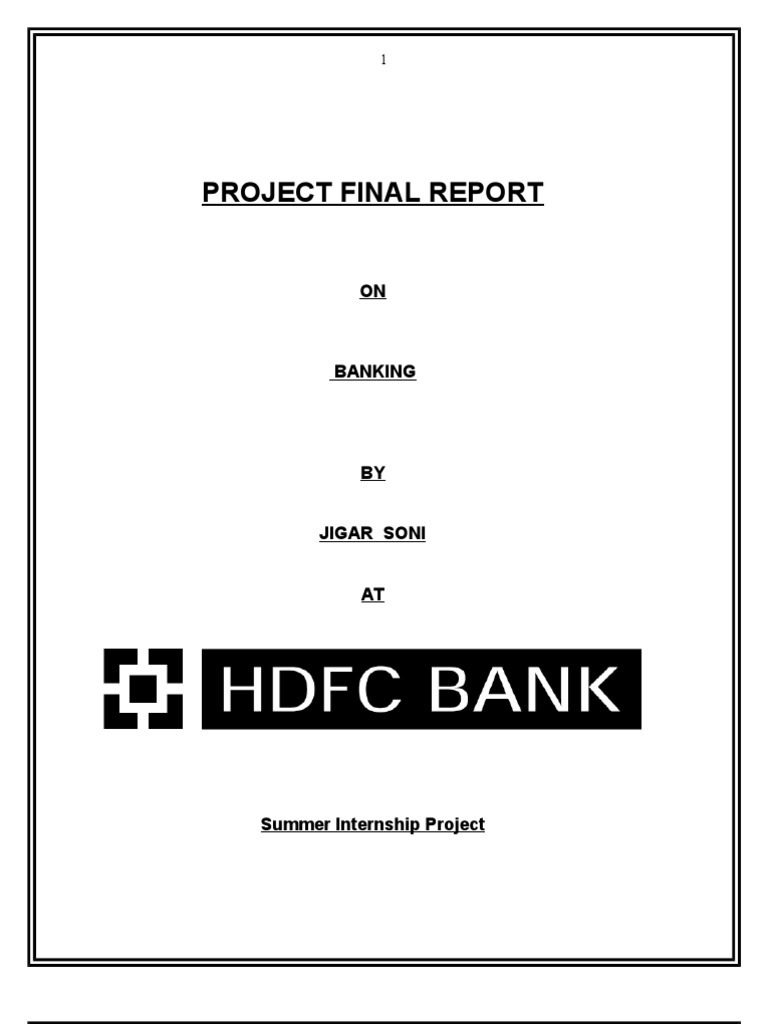 summer internship project report on hdfc account Hdfc bank detailed director reports covering hdfc bank financial results and performance report.