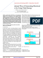 Best Non Conventional Way of Generating Electrical Power by Using Tidal Energy
