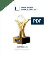 Awards Phd Citation 2011
