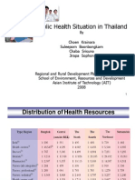Public Health Situation in Thailand