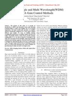Study Of Single and Multi Wavelength(WDM) EDFA Gain Control Methods