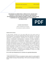 Impacto RD 176-2013 Derogacion Reglamentacion Tecnicosanitaria CESCO